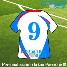 Personalizzata 1 - Portachiavi Mini T-shirt Personalizzabile