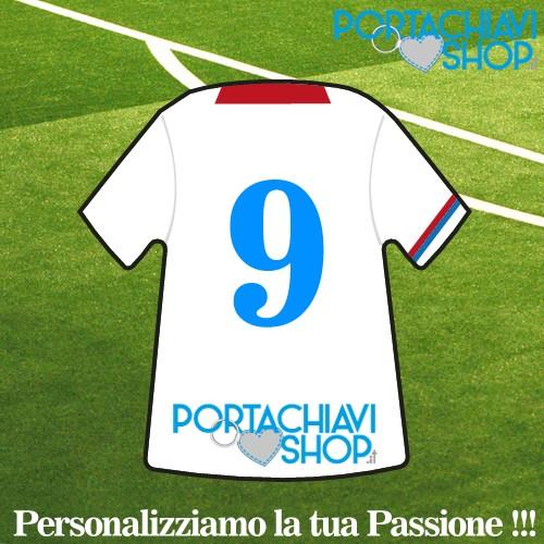 Personalizzata 4 - Portachiavi Mini T-shirt Personalizzabile