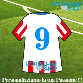 Classica 002 - Portachiavi Mini T-shirt Personalizzabile