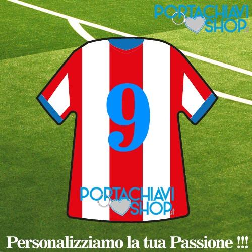 Classica 003 - Portachiavi Mini T-shirt Personalizzabile