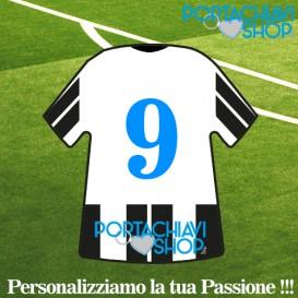 Mod Juve 1 - Portachiavi Mini T-shirt Personalizzabile