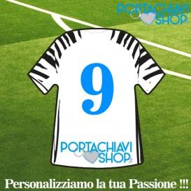 Mod Juve 3 - Portachiavi Mini T-shirt Personalizzabile