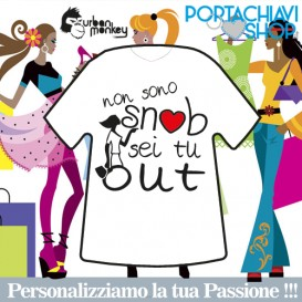 Non sono snob sei tu out - Portachiavi Mini T-shirt Urban Monkey